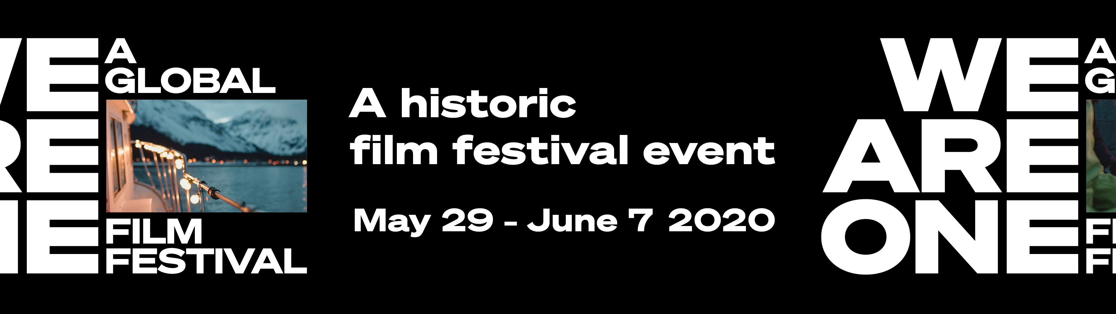We Are One Festival White logo